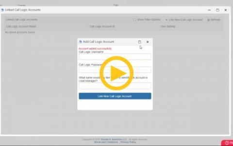 Lead Manager/Call Logic Integration Setup