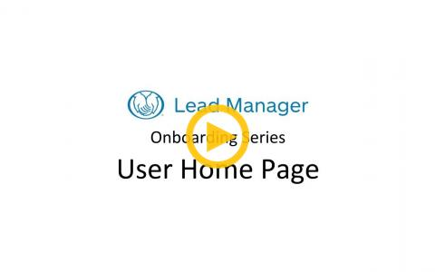 User Home Page