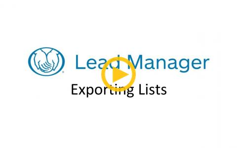 Exporting Lists