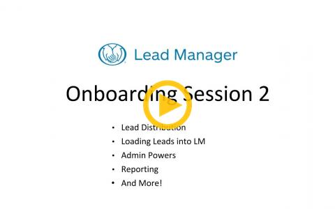 Lead Manager Onboarding Session 2