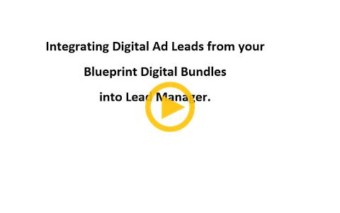 Connecting Lead Manager to ALM/Lead Vantage