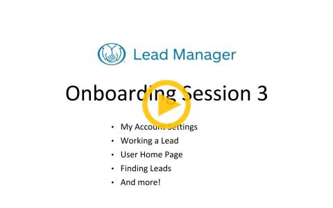 Lead Manager Onboarding Session 3